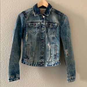 Zara Distressed Denim Jacket